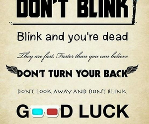 doctor who, blink, and weeping angel image