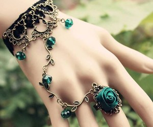 accessory, bracelet, and green image