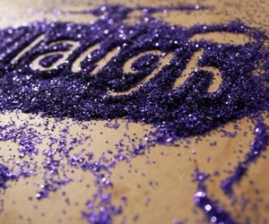 laugh, purple, and glitter image