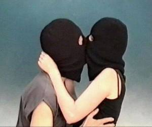black, couple, and kissing image