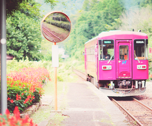 pink, header, and train image