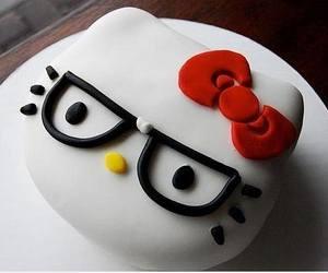 cake, hello kitty, and food image