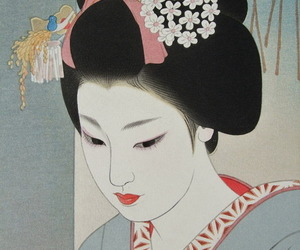 art, geisha, and japanese image