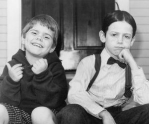 the little rascals, black and white, and alfalfa image