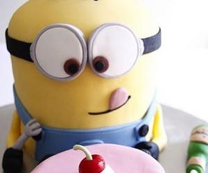 minions, cake, and food image