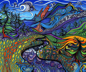 art, trippy, and psychedelic image