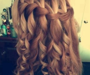 braid, curly hair, and cute image