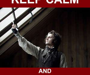 johnny depp, sweeney todd, and keep calm image