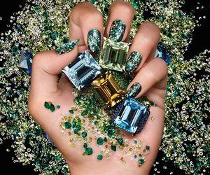 glitter, nails, and diamonds image