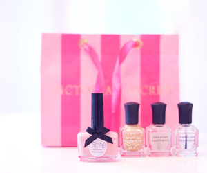 pink, nail polish, and Victoria's Secret image