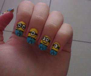 minions, nail art, and despicable me image