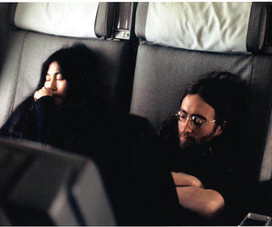 couple, hippies, and plane image