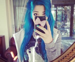 blue hair, nevershoutneesey, and neesey chu image
