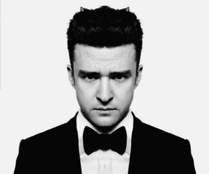 justin timberlake, justin, and black and white image