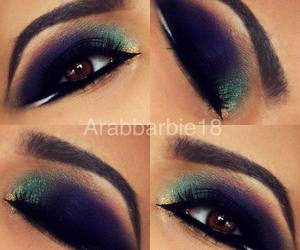 eye makeup and eyebrows image