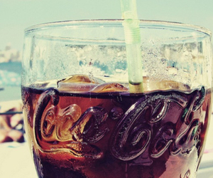 beach, coca cola, and side image