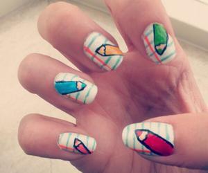 high school, nail art, and nails image