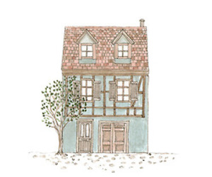 drawing, house, and illustration image