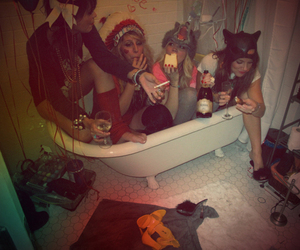 party, girl, and friends image