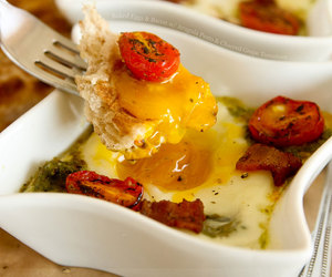 baked, egg, and eggs image