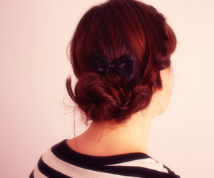 bow, braided, and braids image