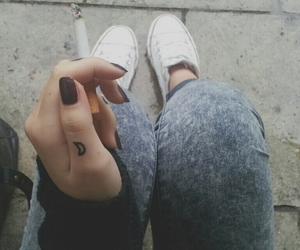 smoke, cigarette, and tattoo image