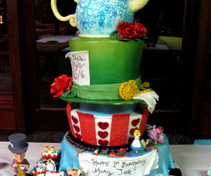 cake alice in wonderland image