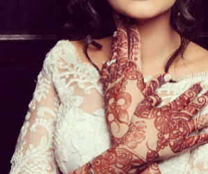 henna and bride image
