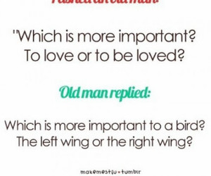 love, bird, and text image