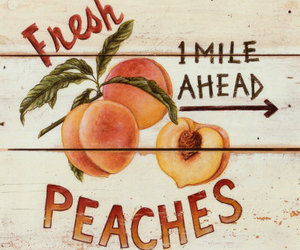 peach, fresh, and vintage image