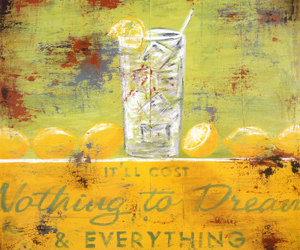 dreams, yellow, and drink image