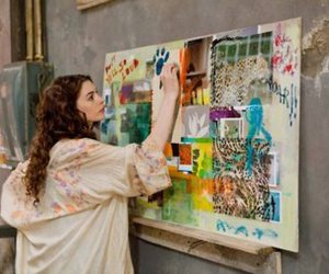 Anne Hathaway, art, and hobby image