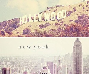 hollywood, california, and new york image