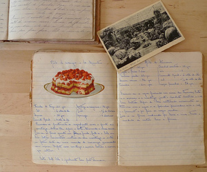 vintage, diary, and food image