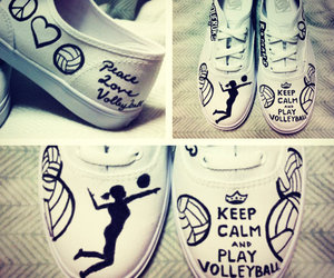 volleyball, shoes, and sport image