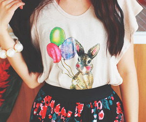 fashion, girl, and bunny image