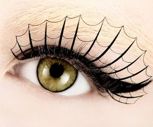 eye, Halloween, and eyelashes image