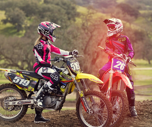 motocross, boy, and couple image