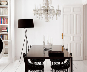 decor, white, and chandelier image