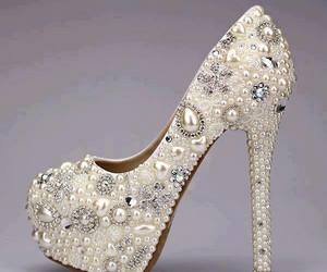 heels, shoes, and pearls image