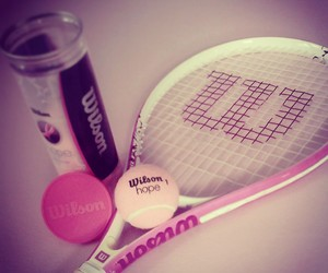 tennis, pink, and sport image