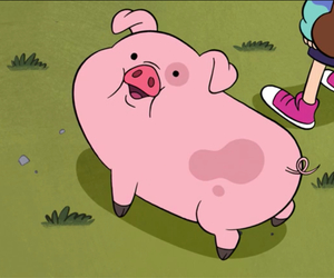 pig, mable, and gravity falls image