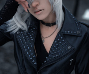 gray hair, japanese, and jacket image