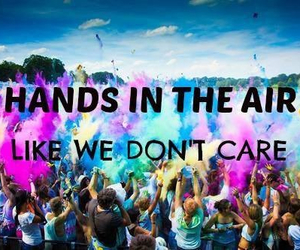 party, air, and hands image