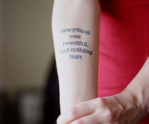 tattoo, quote, and arm image