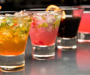 drink, alcohol, and lemon image