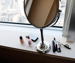 makeup, mirror, and beauty image