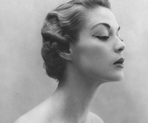 vintage, black and white, and jean patchett image