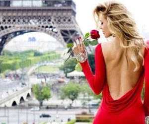 paris, red, and rose image