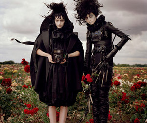 tim burton, edward scissorhands, and beetlejuice image